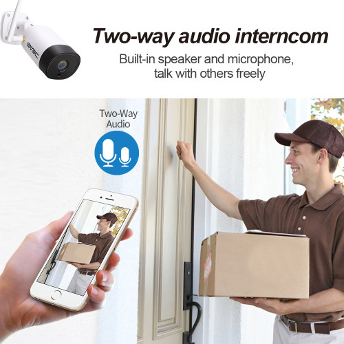 WiFi Security Camera Outdoor, SV3C 3MP Wireless Surveillance Camera, Two-Way Audio, IR Night Vision, Motion Detection Security Camera, IP66 Waterproof IP Camera for Outdoor Indoor, Support Max 128GB
