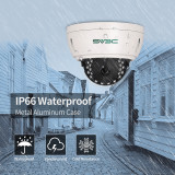 SV3C IP POE Security Camera, 5MP 2592x1944P Pro-HD IR Night Vision Surveillance Camera, IP66 Waterproof Wired Dome Camera for Indoor Outdoor, H.265 ONVIF, Motion Detection
