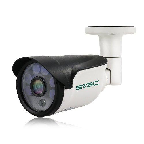 SV3C 3Megapixels POE IP Camera Outdoor Onvif H.265, 65-100ft Night Vision, IP66 Waterproof, Smart Motion Detection