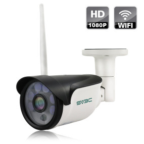WiFi Wireless Security Camera Outdoor, SV3C Full HD 1080P Home Security Surveillance IP Camera, IP66 Waterproof, Night Vision, Motion Detection, Support Max 64GB SD Card(Not Included)