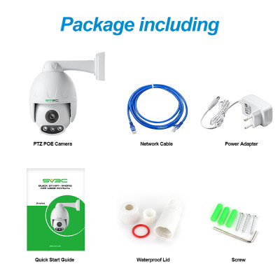SV3C 5MP PTZ POE Camera Outdoor 5XOptical Zoom Pan Tilt Speed & 2.7-13.5MM Varifocal Lens Surveillance IP Security Two-Way Audio, 190FT Night Vision-Sony Sensor, ONVIF H.265, Support Max 128GB SD Card
