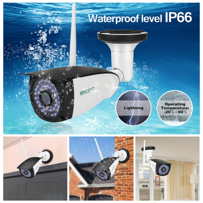 WiFi Camera Outdoor, SV3C 1080P HD Security Camera, Motion Detection IP Cameras, IR LED Night Vision Surveillance Camera, Waterproof CCTV for Indoor Outdoor, Support Max 128GB SD Card
