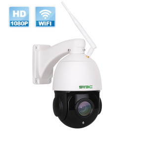 SV3C 1080P WiFi PTZ Security Camera Outdoor, Pan Tilt with 18X Optical Zoom, Wireless IP Dome Surveillance CCTV Camera, 196ft IR Night Vision, Two-Way Audio, IP66 Waterproof, Built-in Sd Slot