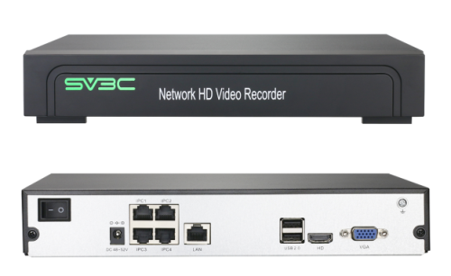 SV3C PoE NVR 9 Channel with 4 POE power ports for 720p/1080p/4MP/5MP HD IP Camera Home Security Camera System Video Recorder Support 8TB Hard Drive ( HDD NOT Include )