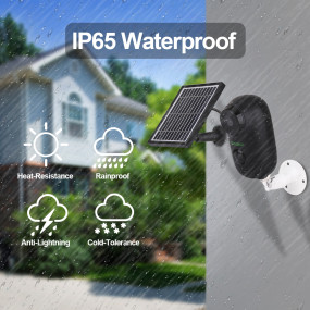 Wireless Battery Cameras, SV3C Solar 1080P WiFi IP Camera, Indoor/Outdoor Rechargeable Security Camera, Two Way Audio Surveillance Camera, PIR Motion Detection Waterproof Camera, Supoort 128G SD Card