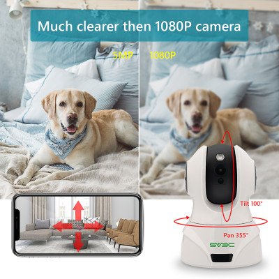 5MP Nanny Pet IP Camera Indoor, SV3C 5 Megapixels Night Vision WiFi Cam, Alexa Two-Way Audio Home Camera, Motion Detection, Cloud Security Cameras for Baby, Kids, Dog, Cat, Support Max 64GB SD Card