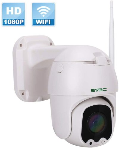 Outdoor Security Camera, SV3C 1080P Full HD Pan Tilt WiFi Security Camera, Wireless Surveillance CCTV IP Camera, Two Way Audio Motion Detection 165ft Night Vision Onvif Dome Camera