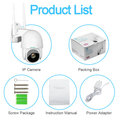 Security Camera Outdoor, 1080P PTZ Camera with Pan/Tilt 360° View Night Vision, WiFi Home Surveillance IP Camera, 2-Way Audio Motion Detection Activity Alert Support Max 128G TF Card (R Series)