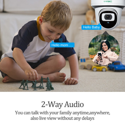 POE Surveillance Camera, SV3C 1080P Camera App Control with Motion Detection Two-Way Audio Night Vision, Remote Viewing for Indoor Baby/Dog/Pet/Nanny Home Security Monitor Cameras Compatible with NVR