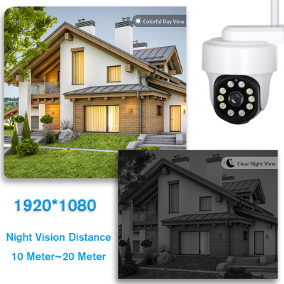 1080P WiFi Security Camera with Light, SV3C Floodlight Color Night Vision IP Camera Outdoor, Pan Tilt Ceiling Dome Cam, 2 Way Audio, Motion Detection Onvif Remote View Camera, Support Max 128G SD Card