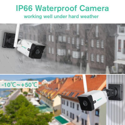 5MP WiFi Security Cameras,SV3C 5 Megapixels Super HD Night Vision IP66 Waterproof IP Outdoor Camera,2-Way Audio Home Camera Outside,Human Motion Detection CCTV Exterior Camera Support SD Card