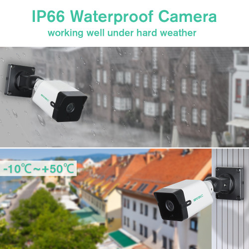 5MP POE Security Cameras,SV3C 5 Megapixels Super HD Night Vision IP66 Waterproof IP Outdoor Camera,2-Way Audio Home Camera Outside,Human Motion Detection CCTV Exterior Camera Support SD Card