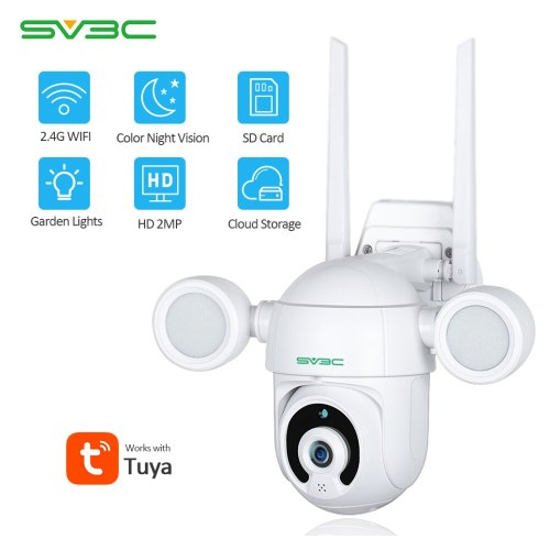 Smart Lighting Camera Tuya Flood Light Humanoid Trigger PTZ Wifi IP AI Auto Tracking Audio 2MP Security CCTV Video Surveillance