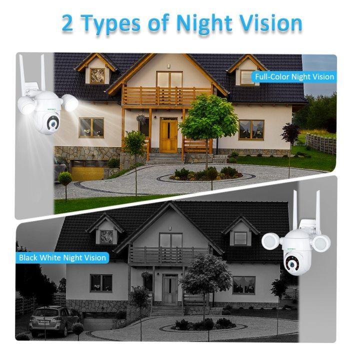 Smart Lighting Camera Tuya Flood Light Humanoid Trigger PTZ Wifi IP AI Auto Tracking Audio 2MP Security CCTV Video Surveillance