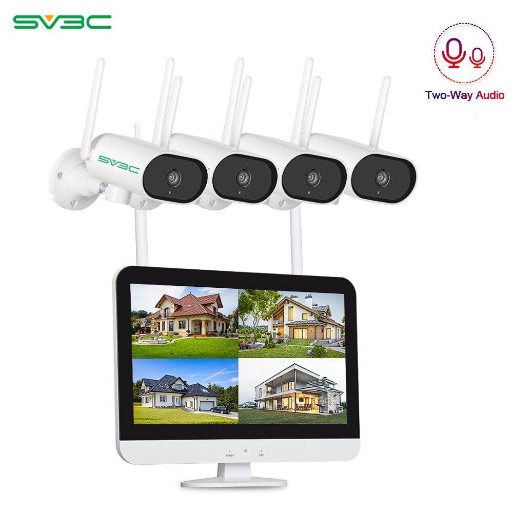 SV3C 3MP PTZ Video Surveillance Camera System 1296P CCTV System Waterproof Outdoor Camera APP Control Rotate CCTV Cameras NVR