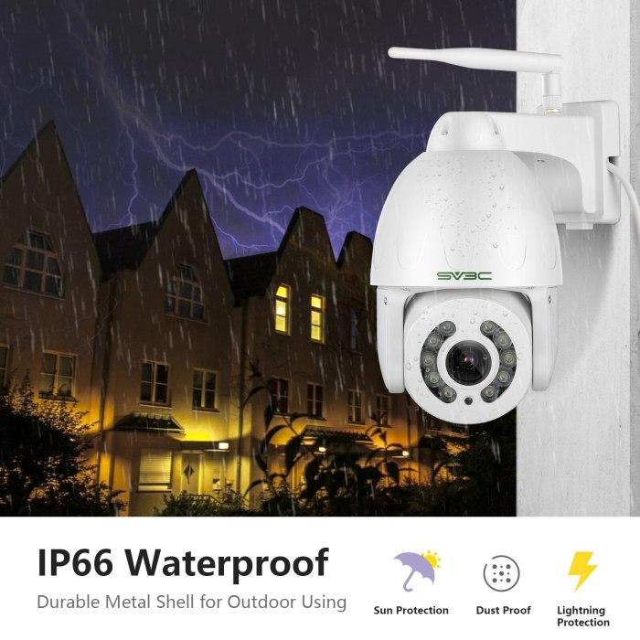 2021 New Auto Track PTZ WiFi Camera Outdoor Wireless 5MP 5X Zoom Spotlight Color Night Vision Camera IP66 Waterproof  Playback