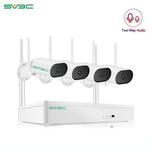 SV3C 3MP PTZ Wireless Surveillance Camera System Audio Record CCTV System Night Vision NVR Set No Nailing Design Outdoor NVR