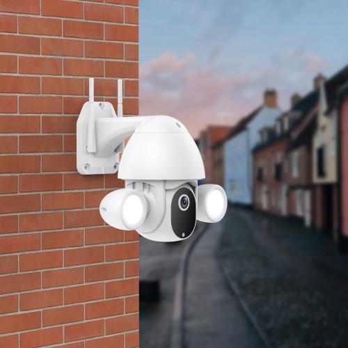 SV3C Floodlight Camera Wireless WiFi 1080P Dome Surveillance Security Auto Tracking Tuya Smart Life Home Two-Way Audio MicroSD Cloud Storage 4X Digital Zoom IP66 Waterproof Outdoor