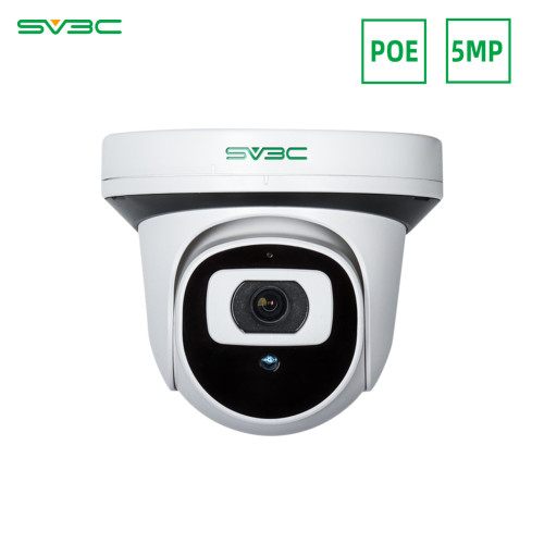 5MP POE Security Camera, SV3C IP Camera App Control with Motion Detection Two-Way Audio Night Vision, Remote Viewing for Home Surveillance Monitor Dome Camera Support SD Card Compatible with ONVIF