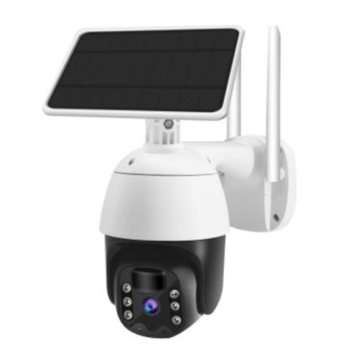 SV3C Solar Security Camera Outdoor Wireless WiFi, Pan Tilt Home Security Camera 1080P Night Vision with Rechargeable Battery, Motion Detection, 2-Way Audio