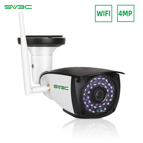 4MP WiFi Camera Outdoor, SV3C 4 Megapixels HD Security Camera, 2-Way Audio Surveillance Camera, Motion Detection IR LED Night Vision IP Camera, Indoor Outside Waterproof CCTV Support Max 128GB SD Card