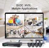 SV3C 16 Channel (8 POE Ports) NVR 1080P/3MP/4MP/5MP H.265 Network Video Recorder, Supports up to 5-Megapixel IP Cameras, ONVIF Compatible, Supports up to 8TB HDD (Not Included)