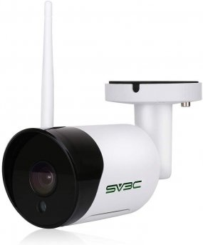 SV3C Outdoor WiFi Camera, 1080P HD Wireless Security Camera, Waterproof Surveillance CCTV IP Camera with Two Way Audio, IR LED Motion Detection Night Vision Camera, Support Max 128GB SD Card