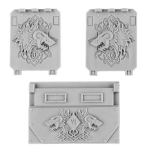 SPACE WOLVES RHINO DOORS AND FRONT PLATE