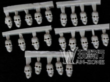The skull head of resin model Warhammer for 40K reconstruction is about 7mm high and 5mm in diameter (20 skulls)