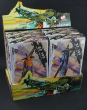 6PCS/Set 4D World War II Germany Fighter Model 1:49 Plastic Assembled Military Airplane Model Toy For Children