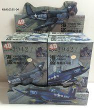 6pcs/set World War II the United States F4U Pirate Carrier Fighter 4D Assembly 1/48 Military Aircraft Model Toy