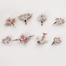 8PCS/Set 4D Plastic Assembled Airplane Puzzle Assembling Military Fighter Toys For Children