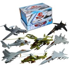 8PCS/Set Plastic Assembled Airplane 1:165 Scale SU-33 SU-47 Helicopter Military Fighter Sand Table Toy 2nd Generation
