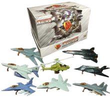 8PCS/Set 1:165 4D Plastic Assemble Airplane MIG-29 F22 Apache Helicopter Military Fighter Sand Table Toy For Children