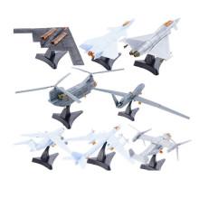 4D Third Generation 8 Models Aircraft J-20 Stealth Fighter B-2 Bomber Ospreys Helicopter Plastic Assembling Model