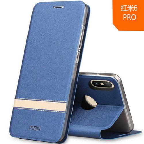 Mofi Funda de Piel para Xiaomi A2 Lite/Redmi 6 Pro Serie Mixed