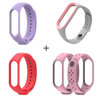 4 Correas De Repuesto Xiaomi Mi Band 3/4 (serie Damas)