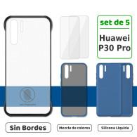 Fundas para Huawei P30 Pro (Set de 5) 3 Fundas + 2 Micas