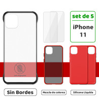 Fundas para iPhone 11 (Set de 5) 3 Fundas + 2 Micas
