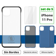 Fundas para iPhone 11 Pro (Set de 5) 3 Fundas + 2 Micas