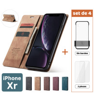 Fundas para iPhone Xr (XR) (Set de 4) 2 Fundas + 2 Micas