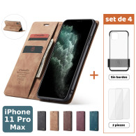 Fundas para iPhone 11 Pro Max (Set de 4) 2 Fundas + 2 Micas