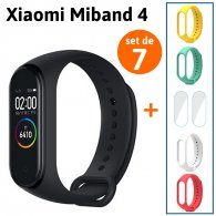 [Set de 7] Xiaomi Band 4 + 4 Correas + 2 Micas