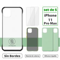Fundas para iPhone 11 Pro Max (Set de 5) 3 Fundas + 2 Micas