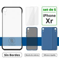 Fundas para iPhone Xr (XR) (Set de 5) 3 Fundas + 2 Micas