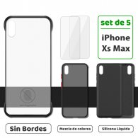Fundas para iPhone Xs Max (Set de 5) 3 Fundas + 2 Micas