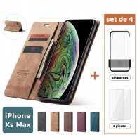Fundas para iPhone Xs Max (Set de 4) 2 Fundas + 2 Micas