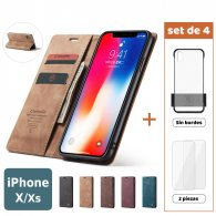 Fundas para iPhone X / Xs (Set de 4) 2 Fundas + 2 Micas
