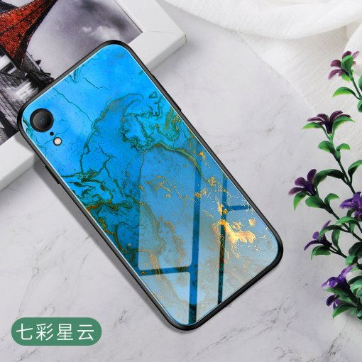 iYA-iYO Carcasa para Apple iPhone Serie Marble Tempered Glass