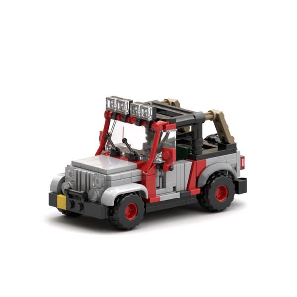 MOC-25926 Jurassic Park Staff Jeep